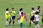 Футболистки устроили массовую драку в матче чемпионата Эквадора