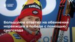 Большунов ответил на обвинения норвежцев в победе с помощью снегохода