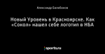 Новый Уровень в Красноярске. Как «Сокол» нашел себе логотип в НБА