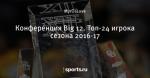 Конференция Big 12. Топ-24 игрока сезона 2016-17