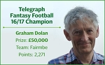 Telegraph Fantasy Football: How Graham Dolan became the 2016/17 champion