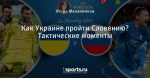 Как Украине пройти Словению? Тактические моменты