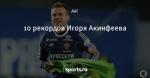 10 рекордов Игоря Акинфеева