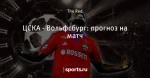 ЦСКА - Вольфсбург: прогноз на матч