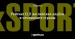 Рейтинг ELO английских клубов в чемпионате страны