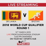 Sri Lanka v Bhutan - 2018 World Cup Qualifier