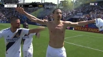 Zlatan Ibrahimovic scores FIRST EVER MLS goal for LA Galaxy