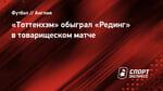 «Тоттенхэм» обыграл «Рединг» втоварищеском матче