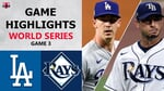 Los Angeles Dodgers vs. Tampa Bay Rays Game 3 Highlights   World Series (2020)