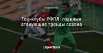 Топ-клубы РФПЛ: главные атакующие тренды сезона