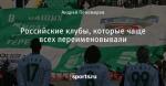 Российские клубы, которые чаще всех переименовывали