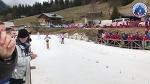 Arrivée du 5 km libre dames - 64e Championnat des douanes alpines