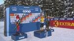 Заводной танец Ступак и Диггинс на церемонии награждения «Тур де Ски»