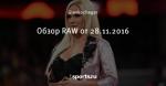 Обзор RAW от 28.11.2016