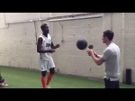 Man Utd's Paul Pogba works out intensely in Carrington gym