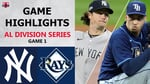 New York Yankees vs. Tampa Bay Rays Game 1 Highlights   ALDS (2020)