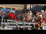 Crazy Argentina Fans Singing Vamos Argentina, Before Argentina vs Nigeria Match in Russia World Cup