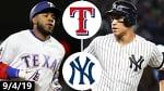 Texas Rangers vs. New York Yankees Highlights | September 4, 2019 (2019 MLB Season)