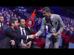 Cristiano Ronaldo HANDSHAKE With Lionel MESSI On Champions League Ceremony | 24.08.2017 HD