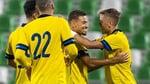 Ларссон открыл счет своим голам в сборной Швеции (Видео)