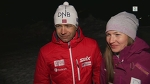 Ole Einar Bjørndalen & Darya Domracheva on their happy day - VM Hochfilzen 2017