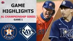 Houston Astros vs. Tampa Bay Rays Game 1 Highlights   ALCS (2020)
