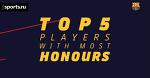 ТОП-5 игроков по количеству титулов за «Барсу»