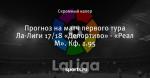 Прогноз на матч первого тура Ла-Лиги 17/18 «Депортиво» - «Реал М». Кф. 1.95