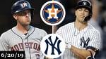 Houston Astros vs New York Yankees - Full Game Highlights   June 20, 2019   2019 MLB Season