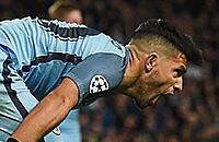Серхио Агуэро, Радамель Фалькао, Манчестер Сити, Монако, Лига чемпионов, видео