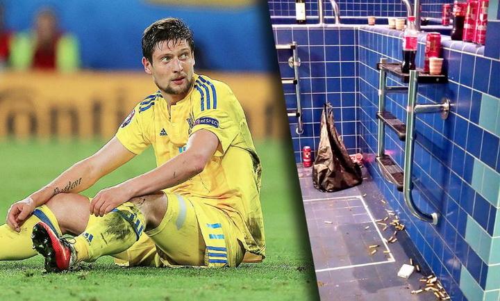 Футболисты сборной Украины заливали поражение от Германии пивом и вином