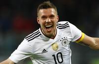 Лукас Подольски, Сборная Англии по футболу, Сборная Германии по футболу, видео