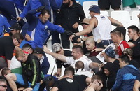сборная Венгрии по футболу, происшествия, болельщики, Сборная Исландии по футболу, Евро-2016, фото