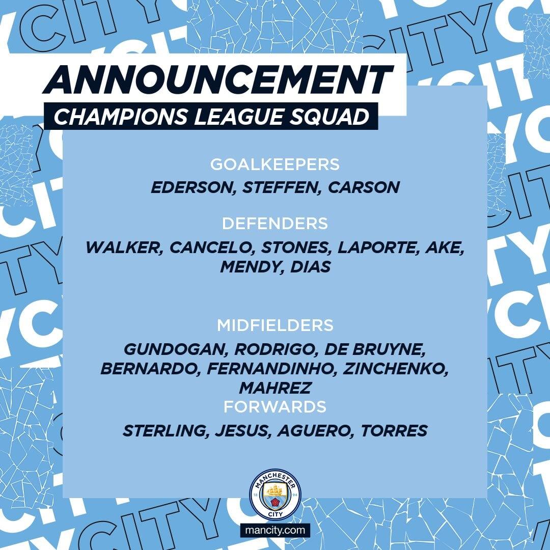 Зинченко заявлен на ЛЧ в составе Манчестер Сити на новой позиции - изображение 1