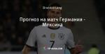 Прогноз на матч Германия - Мексика