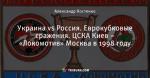 Украина vs Россия. Еврокубковые сражения. ЦСКА Киев – «Локомотив» Москва в 1998 году