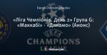 «Ліга Чемпіонів. День 2» Група G: «Маккабі» - «Динамо» (Анонс)