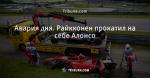 Авария дня. Райкконен прокатил на себе Алонсо - Телевизор - Блоги - ua.tribuna.com