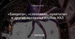 «Бандиты», «слизняки», «унитазы» и другие прозвища клубов НХЛ