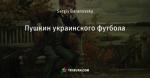 Пушкин украинского футбола