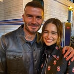 """David Beckham on Instagram: """"Again I was a little star struck whist being in the same vicinity of the Mother Of Dragons ... So nice to see @emilia_clarke in San Fran…"""""""