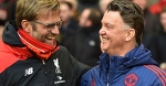 Jurgen Klopp at Liverpool and Louis van Gaal at Man United: VERY similar records