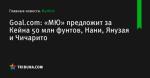 Goal.com: «МЮ» предложит за Кейна 50 млн фунтов, Нани, Янузая и Чичарито - Футбол - ua.tribuna.com