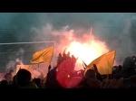 Украина - Кипр, 25.03.2016, фанатский сектор. Сразу после финального свистка