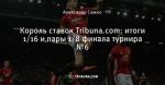 Король ставок Tribuna.com: итоги 1/16 и пары 1/8 финала турнира №6