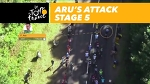 Aru's speed during his attack - Stage 5 - Tour de France 2017