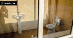 На стадионе в Николаеве оборудовали туалет с прозрачным стеклом вместо стены