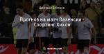 Прогноз на матч Валенсия - Спортинг Хихон