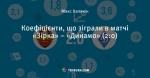 Коефіцієнти, що зіграли в матчі «Зірка» – «Динамо» (2:0)