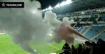 Фанаты «Черноморца» бросали файеры и использовали огнетушители во время матча с «Ворсклой»